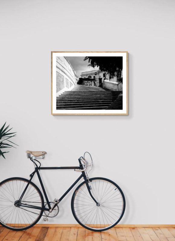 Spanish Steps with a lone shopkeeper , Rome Italy Before the Lockdown - Print